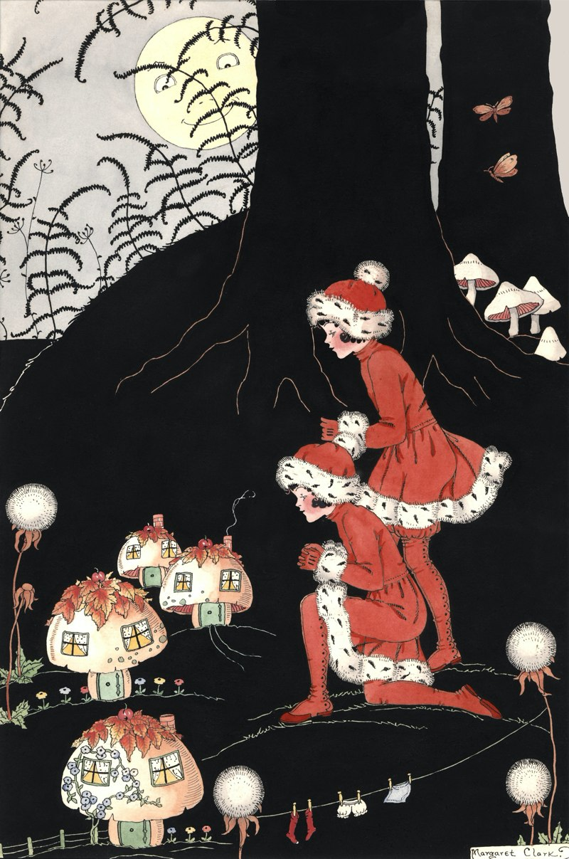 The Mushroom Village Margaret Clark Print
