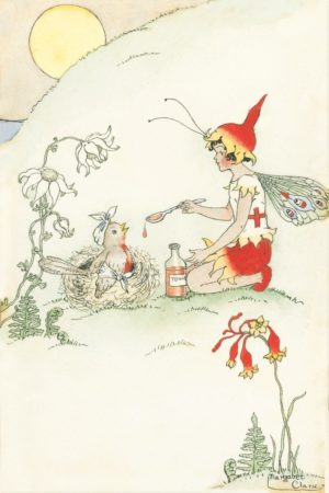 Red Cross Fairy Margaret Clark Print