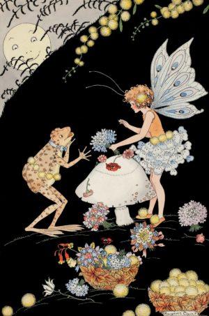Flower Shop Fairy Margaret Clark Print
