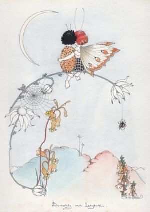 Butterfly & Ladybird Margaret Clark Print