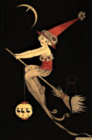 Little Witchkin (Red) Margaret Clark Print